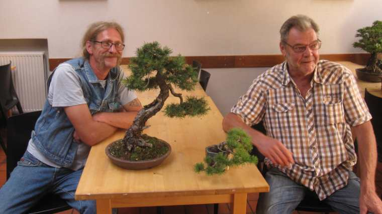 William Herremans en Luc De Meyst - Vlaamse Bonsai Vereniging - VBV Dender