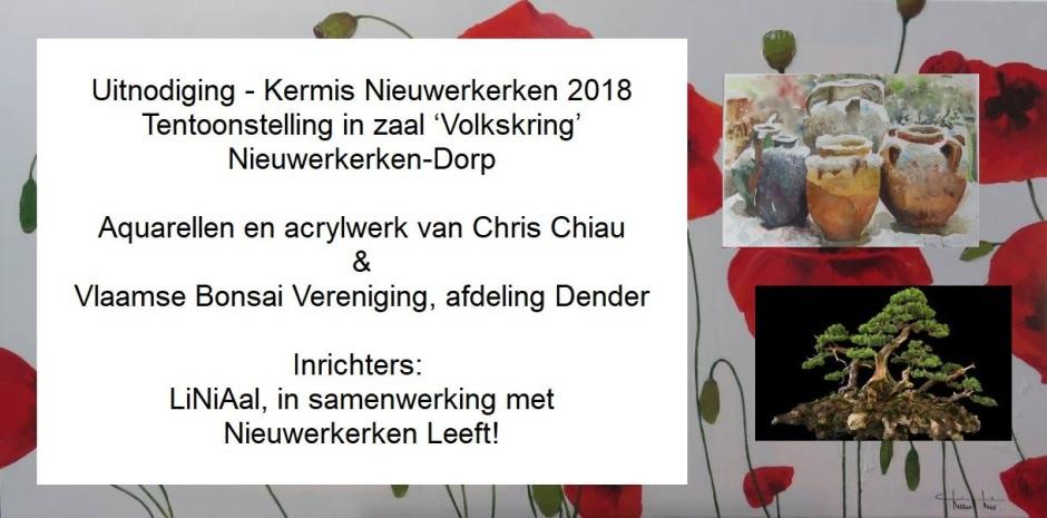 Uitnodiging tentoonstelling 2018